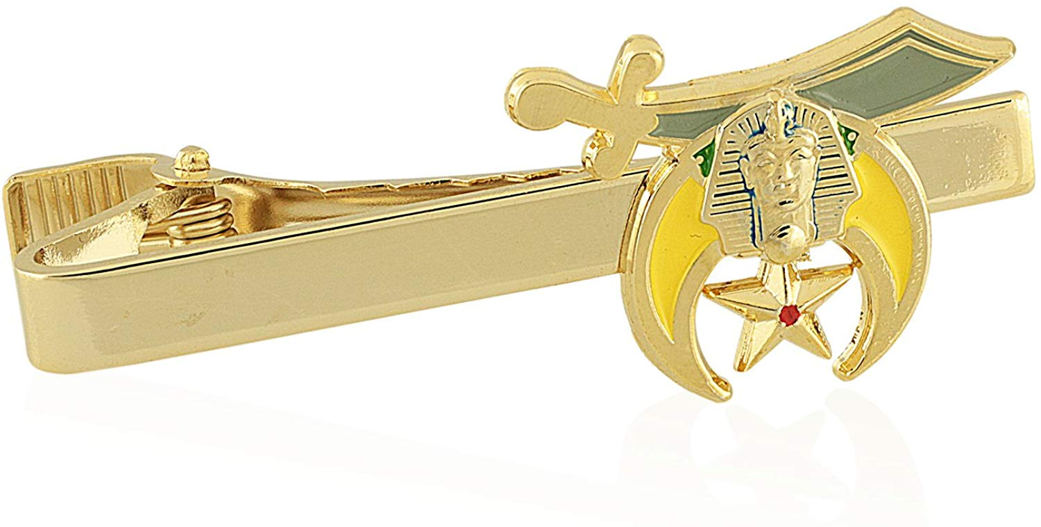 Shriner: Nobles of the Mystic Shrine Freemasonry Tie Clip/Tie Bar - SolomonsOrder