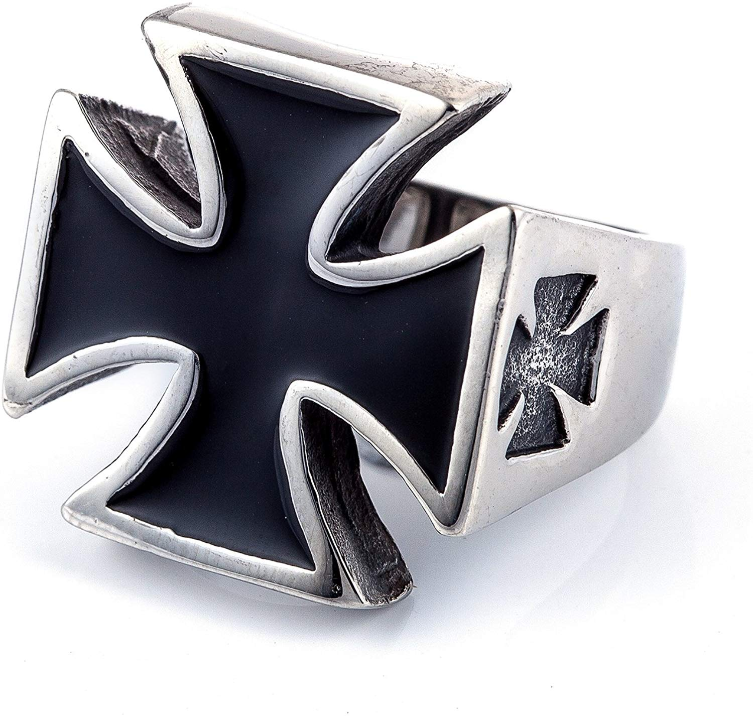 Knights Templar Black Cross Ring - SolomonsOrder