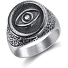 All Seeing Eye Stainless Steel Ring