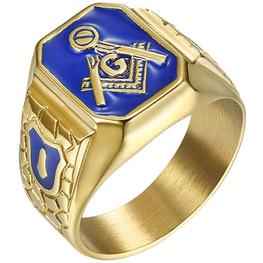 Blue G Lodge Master Mason Ring
