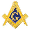 Classic Blue & Gold Masonic Pin