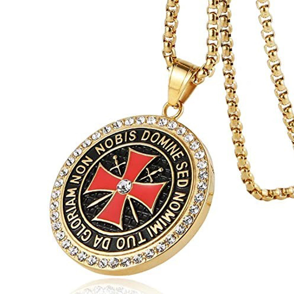 DOMINE Knight's Templar Cross Necklace