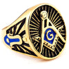 Freemason Blue Rings