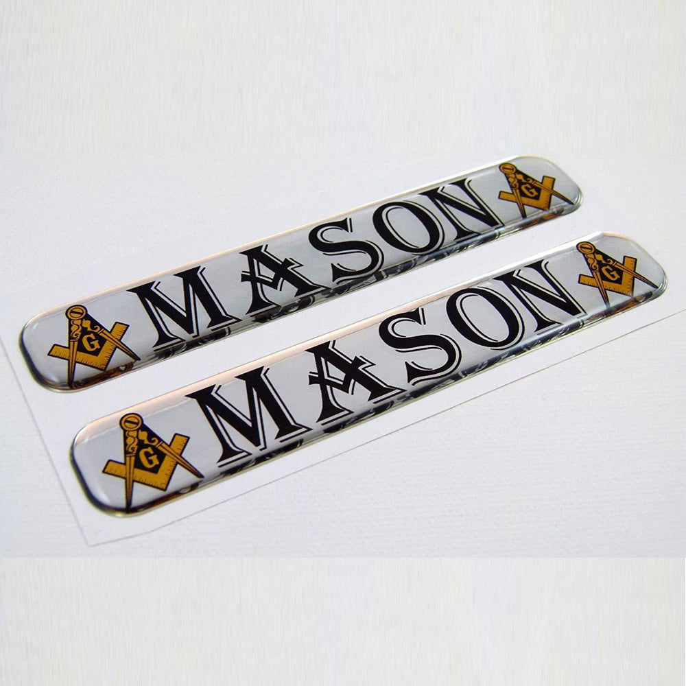 """Freemason"" Domed Decal 2pc."