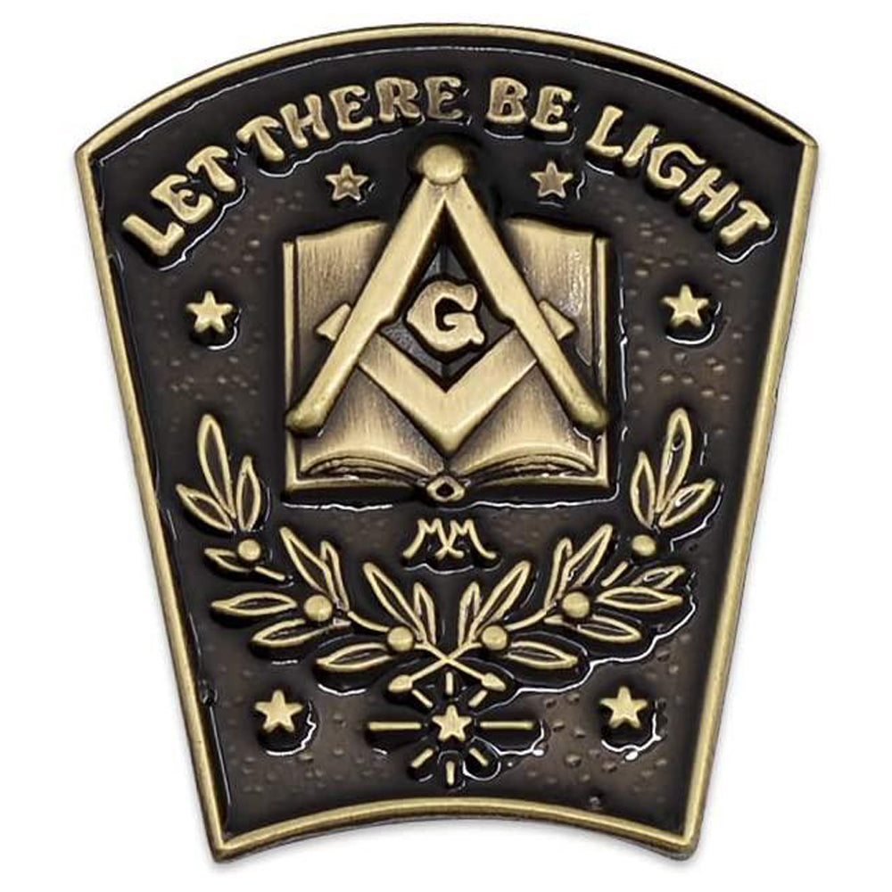 """ Let There Be Light "" Lapel Pin"