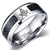Masonic Stainless Steel Black Carbon Ring