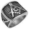 Master Masonic Ring - Mesh Finish