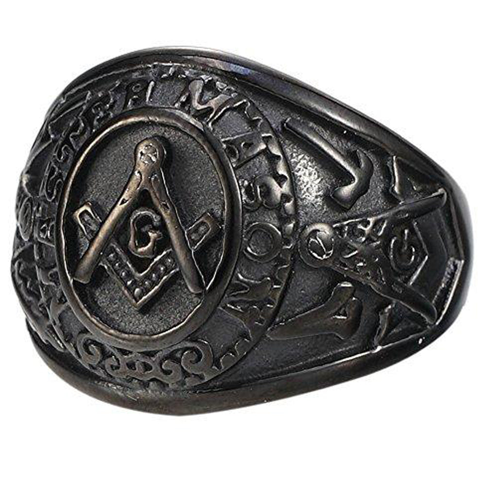 Special Edition Back Matted Masonic Ring