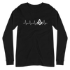 Masonic Heart Beat Square & Compass Long Sleeve Tee