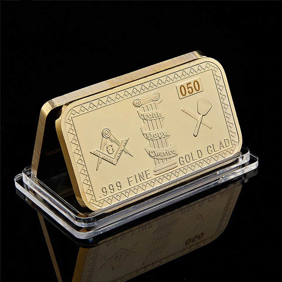 Masonic Gold Plated Bar