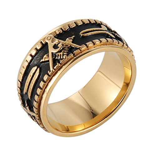 Double Plated Masonic Wedding Band - SolomonsOrder