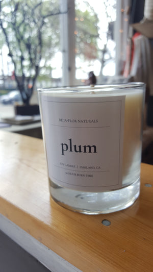 Handmade Soy Candle: Plum