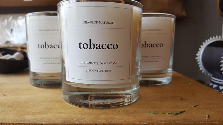Handmade Soy Candle: Tobacco BUY ONE GET ONE FREE