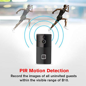 Wireless Video Doorbell, DIGITBLUE Smart Doorbell 720P HD Security Camera with 166-Degree Wide Angle Lens, Real-Time Video and Two-Way Talk, PIR Motion Detection, Free App for iOS and Android