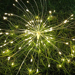 40% Off | Pretty Hanging Starburst Light | Outdoor String Lights | Waterproof 120 Led Micro Lights