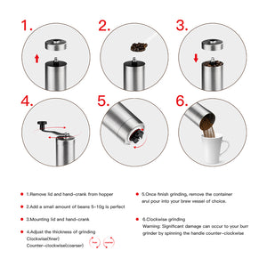 10 BEST Manual Coffee Grinder |Coffee Bean Grinder | Brushed Stainless Steel Shell