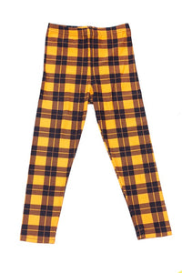Hallowed Plaid Leggings (Kids)