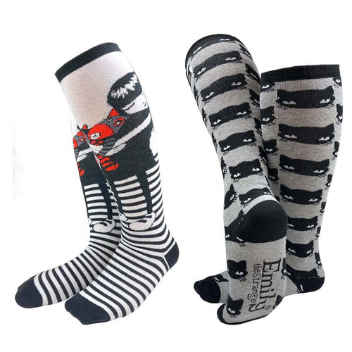 Emily the Strange Cat Lover Sock Set (Kids)