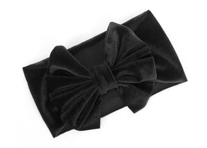 Black Velvet Headband (Baby/Toddler)