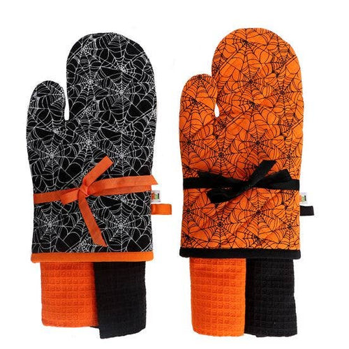 Kitchen Witch Oven Mitt Set