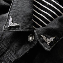 Load image into Gallery viewer, Bat Collar Lapel Pins