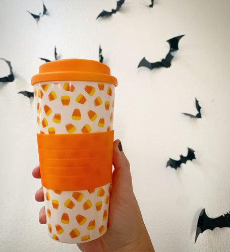 Halloween Travel Mugs (Candy Corn Only Left)