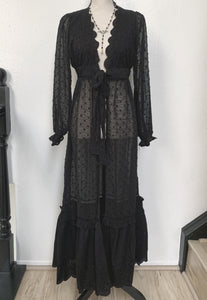 Seance Robe Cardigan in Black (Adults)