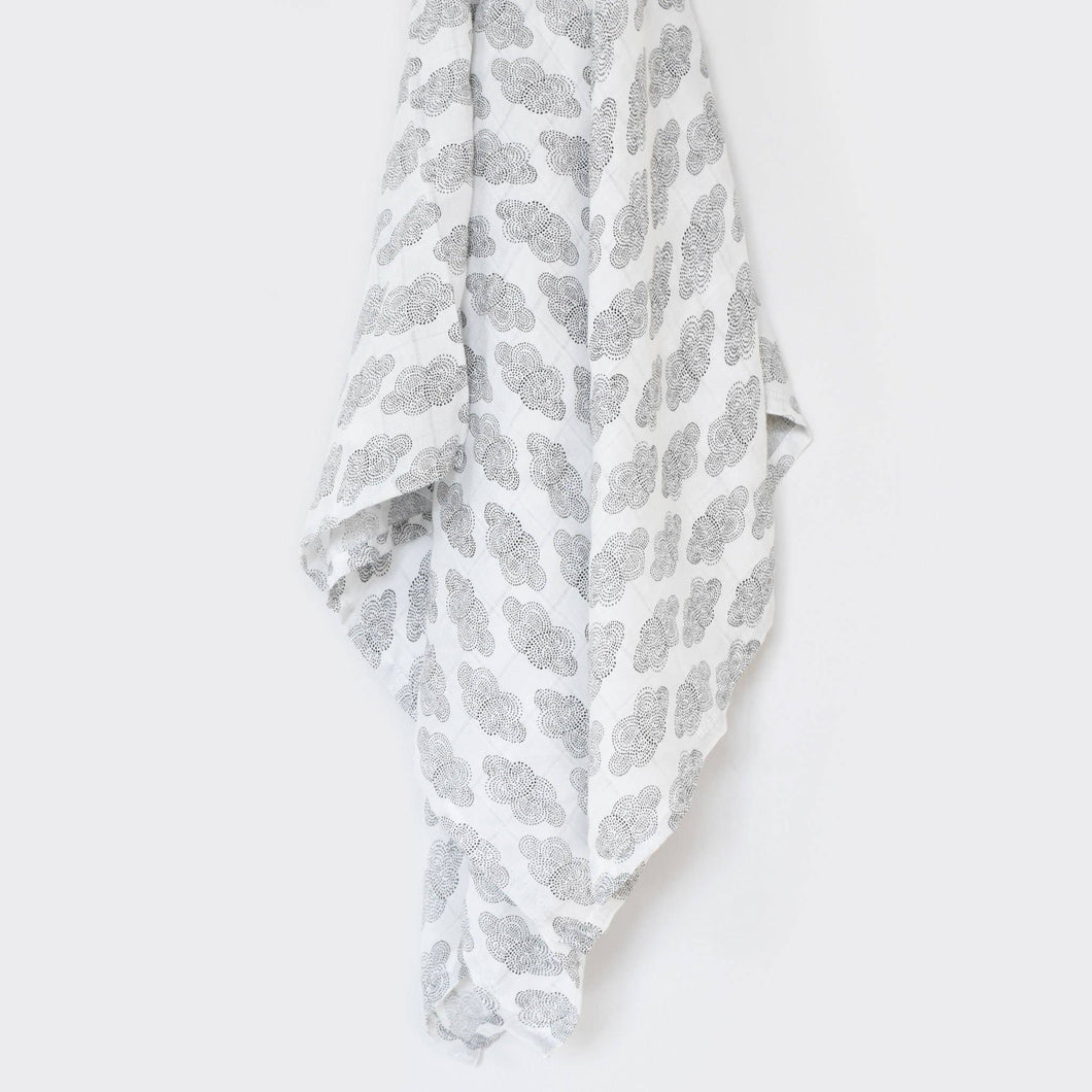 Clouds Muslin Swaddle Blanket