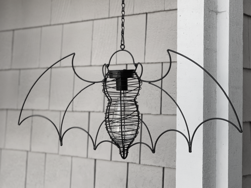 Garden Bat Hanging Solar Light