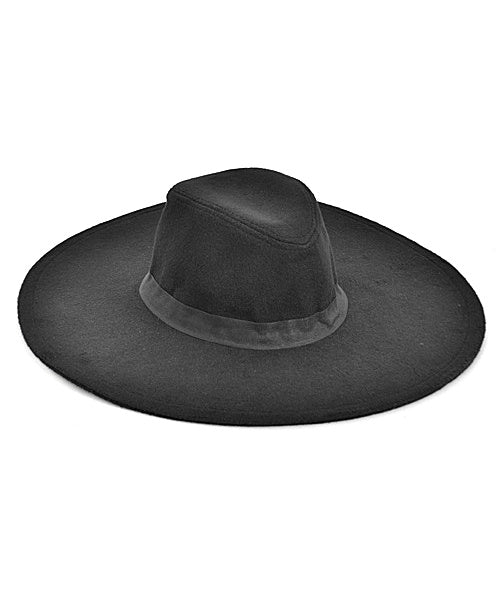 Black Belle Wide Brim Hat (Adults)