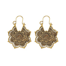 Load image into Gallery viewer, Floral Burst Earrings in Gold