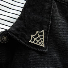 Load image into Gallery viewer, Cobweb Collar Lapel Pins