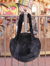 Load image into Gallery viewer, Furry Black Tote Bag