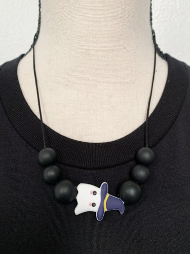 Ghostly Witch Teething Necklace