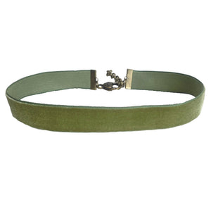 The Girl with the Green Ribbon Choker