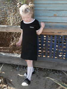 Weirdo Embroidered Ringer Dress (Toddler/Kids)