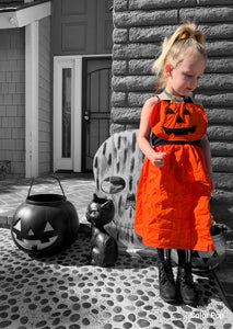 Pumpkin Halter Costume Dress (Toddlers/Kids)