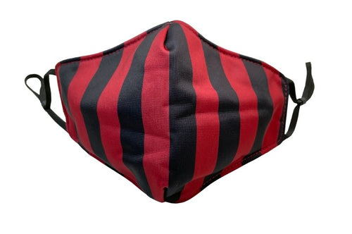 Stripey Mask in Burgundy (Adults)