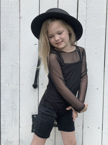 Midnight Mesh Top (Toddlers/Kids)