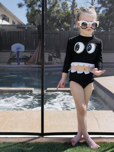Monster 2 Piece Bathing Suit (Toddlers/Kids)