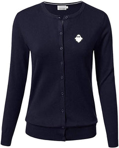 CLEARANCE!! Navy Ghost Cardigan (Adults)