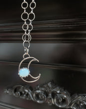 Load image into Gallery viewer, Opalite Moon Necklace