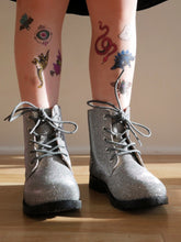 Load image into Gallery viewer, Aurora Combat Boots in Pewter (Toddler/Kids)