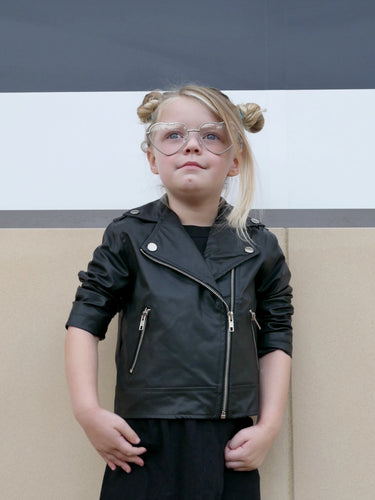 Pleather Biker Jacket (Kids)