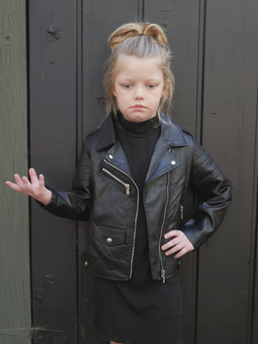 Savage Biker Jacket in Black (Kids)