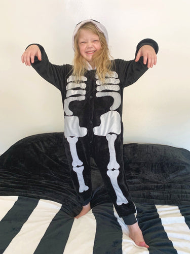 *FACTORY ERROR and LOOSE RIBS* Skeleton Costume (Kids)