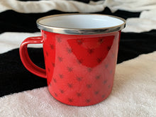 Load image into Gallery viewer, Web of Love Enamel Mug