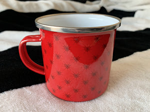 Web of Love Enamel Mug