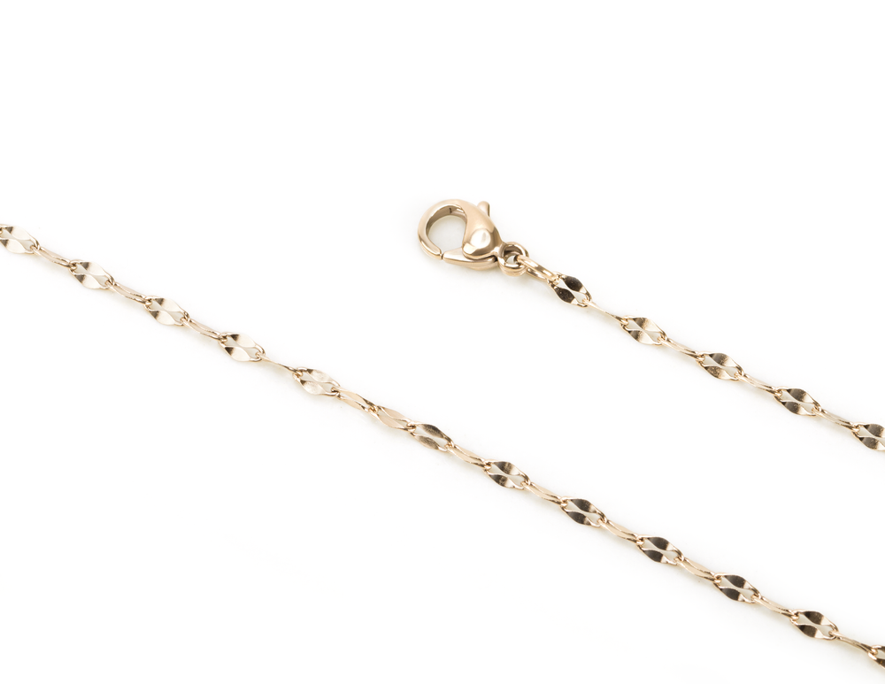 Stainless diamond cut chain