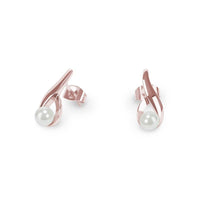 hypoallergenic gold pearl earrings women T116E02DO MIAJWL